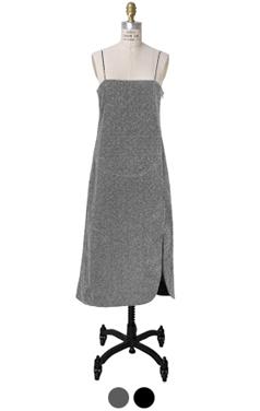 alex metallic slip-dress