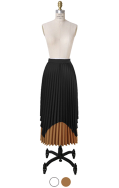 double layered pleated skirt