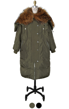 raccoon fur embellished MA-1 parka