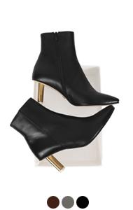 """arch heel ankle boots <br> (3 colors) <br> <font color=#82C7E4 size=""""1.9"""" face=verdana>COLOR ADD</font>"""