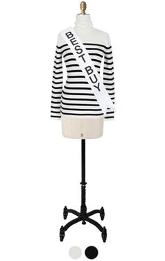 slimfit striped turtleneck sweater