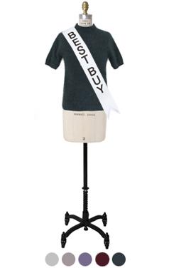 "feminine 1/2 sleeve angora pullover <br> <font color=#82C7E4 size=""1.9"" face=verdana>COLOR ADD</font>"