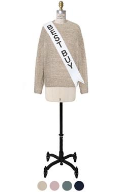 "simpley metalic sweater <br> <font color=#82C7E4 size=""1.9"" face=verdana>COLOR ADD</font>"