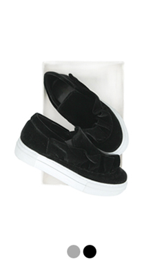 "ruffle embellished slipon sneakers <br> <font color=#ff9999 size=""1.9"" face=verdana>BEST BUY</font>"