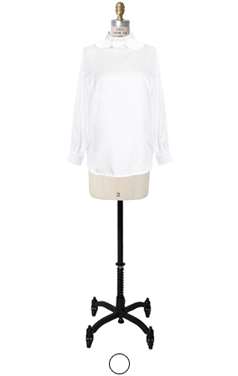 knot-bow back-button blouse
