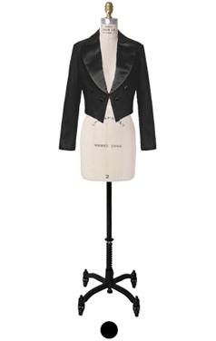 cropped feminine tuxedo jacket