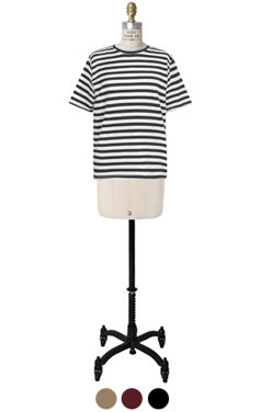 half sleeve french stripe tee