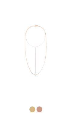"YANE skinny necklace <br> <font color=#ff9999 size=""1.9"" face=verdana>BEST BUY</font>"