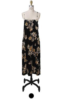 floral velvet slip-dress