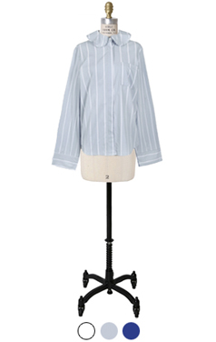 avangarde frilled neck shirts