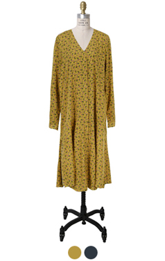 feminine v-neck floral dress