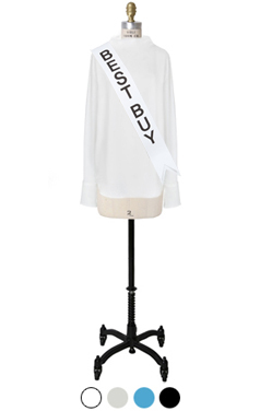 drapery boat-neck blouse