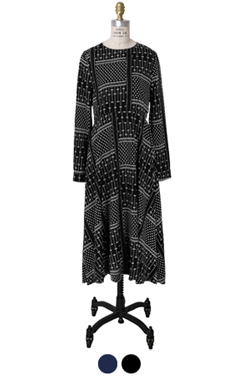 pattern play flare dress