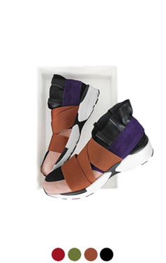 "frill banded sneakers <br> <font color=#82C7E4 size=""1.9"" face=verdana>COLOR ADD</font>"