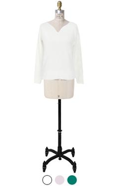 elegant v-neck knit