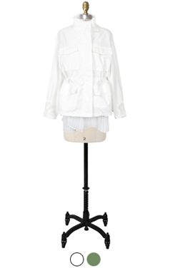 pleated back mili-jacket