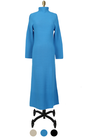 smurf knitted maxi dress