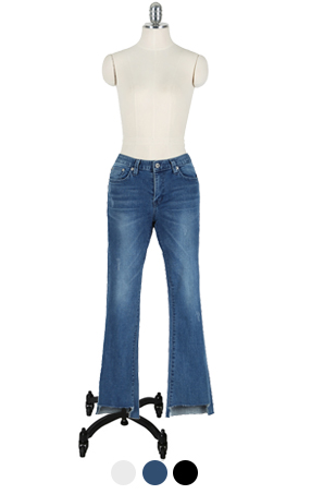 SWALLOW MID-RISE FLARED DENIM