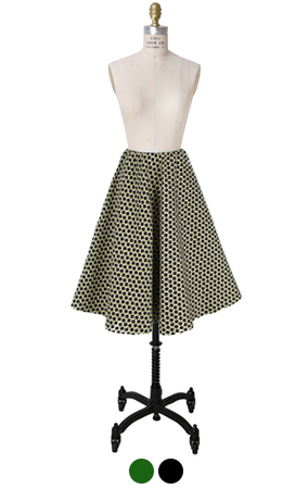 dotty jacquard skirt