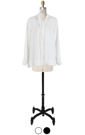laurent slimfit tie blouse