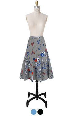 stella flower printed skirt