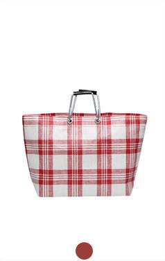 plaid handle bag