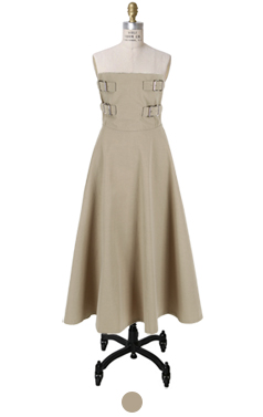 belted bustier dress