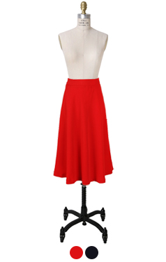 audrey flared midi skirt