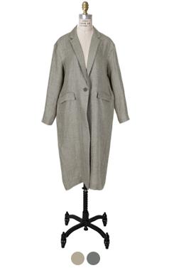 loosefit linen midi jacket