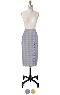 vivienne buttoney pencil skirt