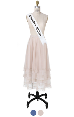 "ROCHA TIERED TULLE SKIRT <br> <font color=#ff9999 size=""1.9"" face=verdana>BEST BUY</font>"