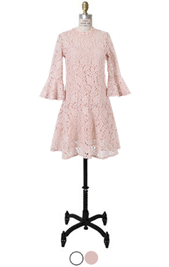 bell sleeve lacy dress