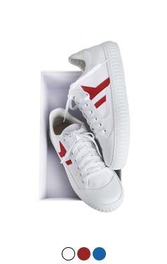 half half converse sneakers