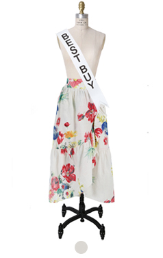 "Ruffled floral wrap-skirt <br> <font color=#ff9999 size=""1.9"" face=verdana>BEST BUY</font>"