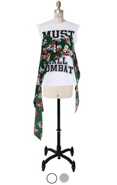 Unique bustier scarf top