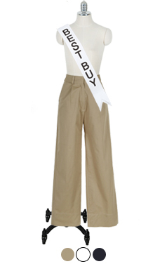 "Classic cotton straight pants <br> <font color=#ff9999 size=""1.9"" face=verdana>BEST BUY</font>"
