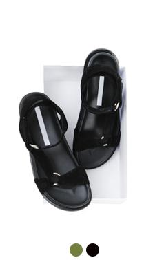 Suede tev sandals