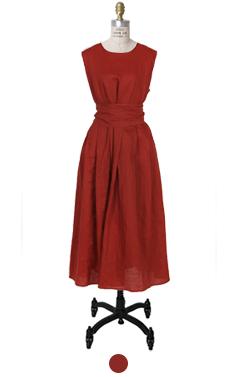 Lemai belted linen dress