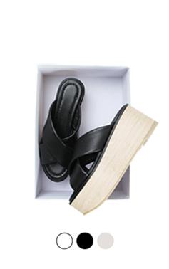 Wooden platform slipper