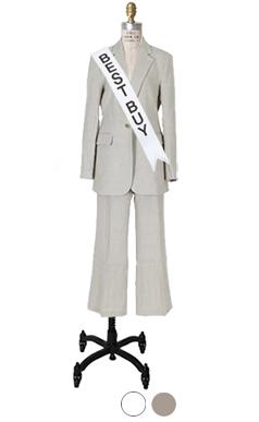 Perfect-fit linen suit