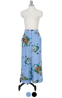 Floral easy pants