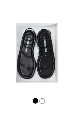 """Lace-up flat sandals <br> <font color=#ff9999 size=""""1.9"""" face=verdana>BEST BUY</font>"""