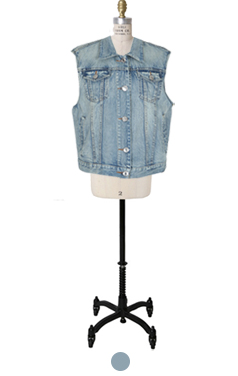 Indian patched denim vest
