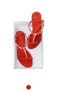 Pearl embellished flat sandals