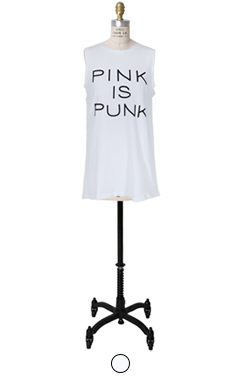 Pink is punk sleeveless tee