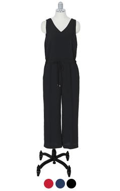 V-neck jumpsuit