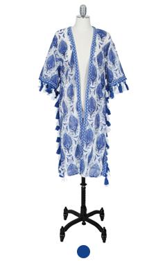 Tessel embellished robe